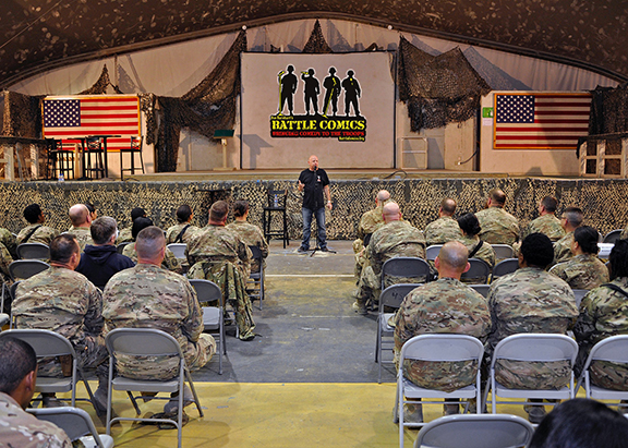 Inspirational Comedian Don Barnhart Entertaining The Troops In Afghanistan